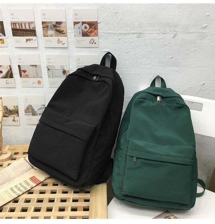 HTB1VTvPXuL2gK0jSZFmq6A7iXXaI 2019 Backpack Women Backpack Solid Color Women Shoulder Bag Fashion School Bag For Teenage Girl Children Backpacks Travel Bag