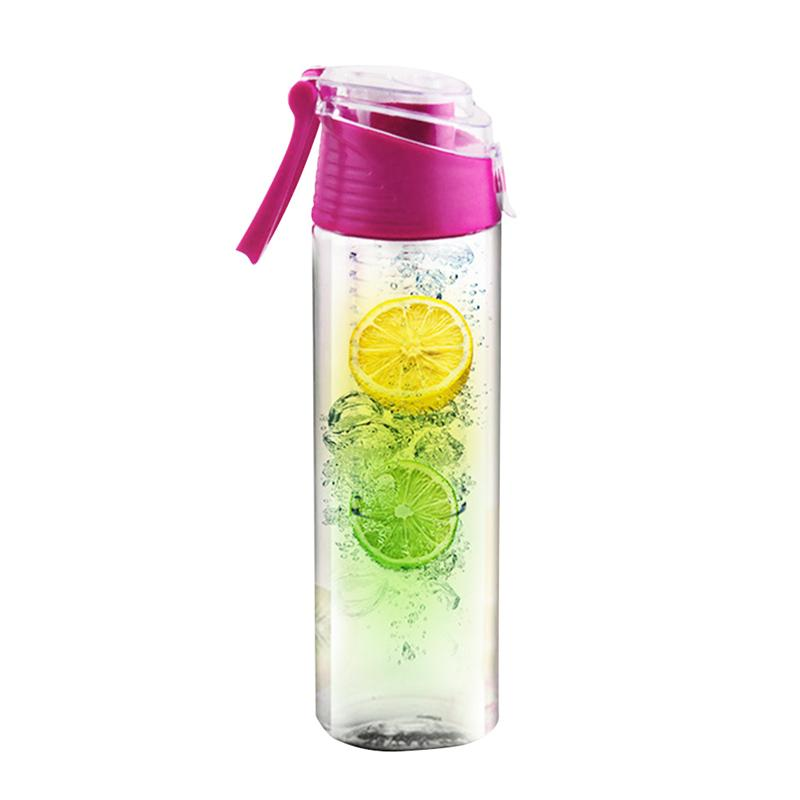 Fruit Infuser Bottle Outdoor Sports Bottle for Mountaineering Running Hiking Camping Traveling 800ML|Water Bottle & Cup Accessories| |  - title=