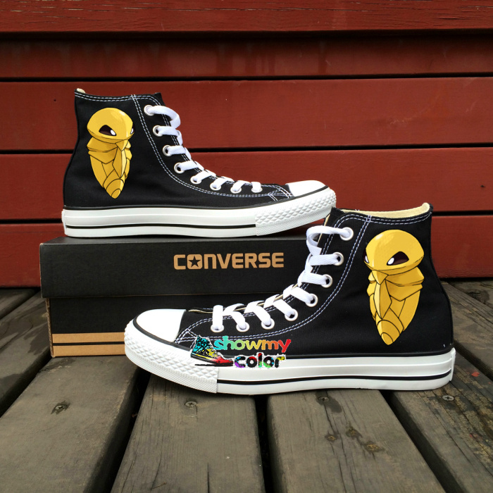 Black Converse That Painted Chuck Taylor All Over Them