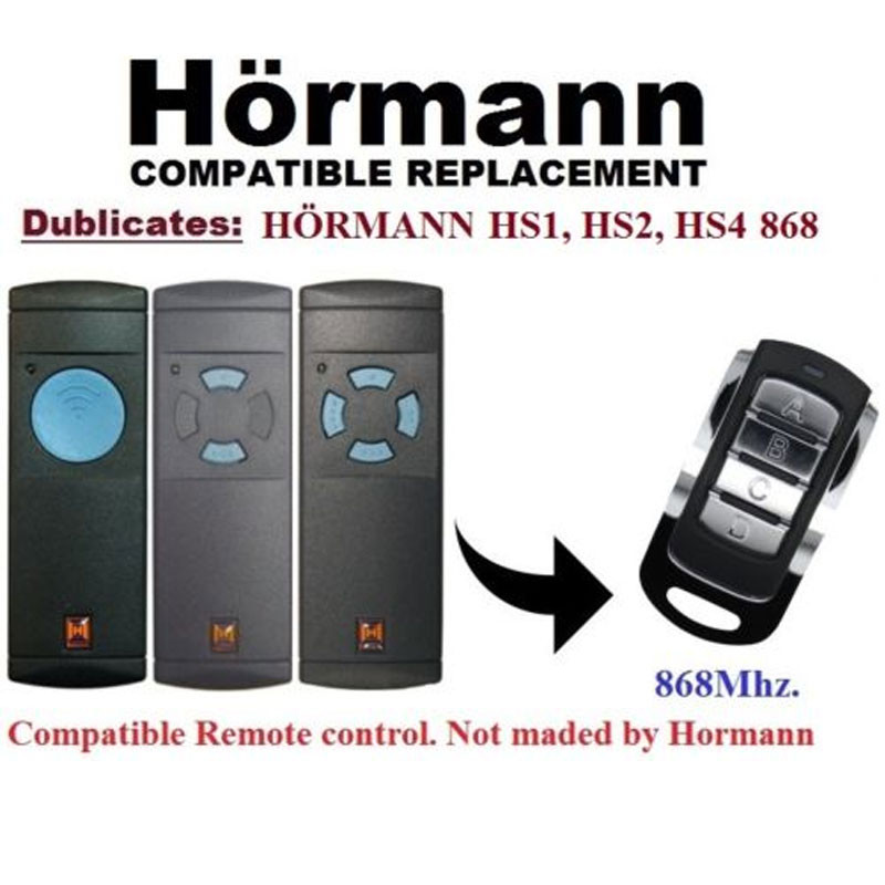 duplicator Hormann HS1,HS2,HS4 blue button 868.3mhz remote