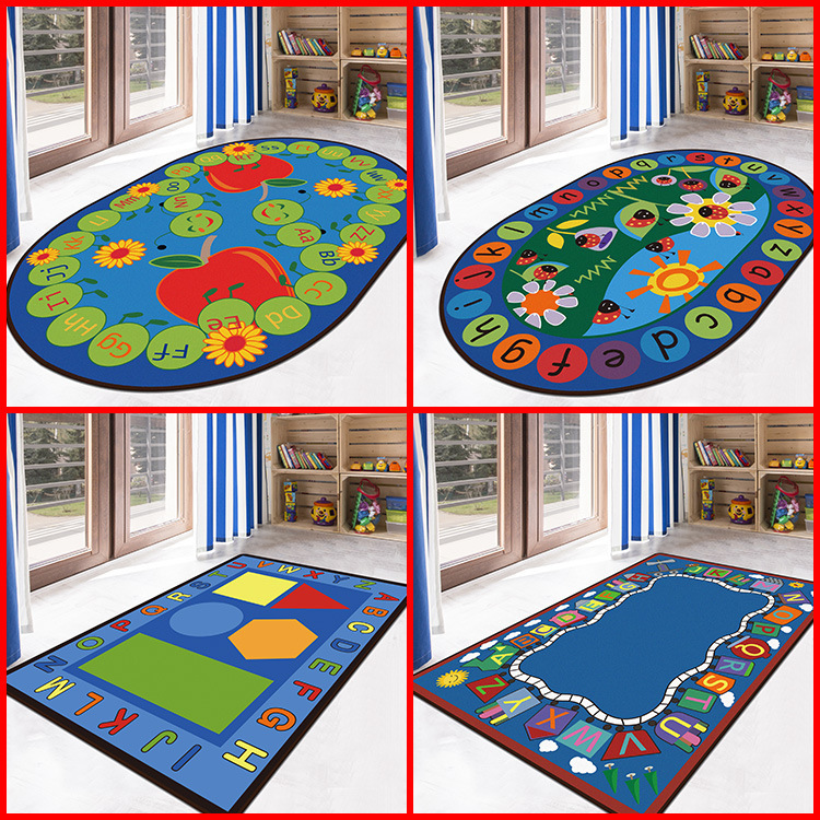 21 Kinds Letters Colorful Cartoon Pattern Large Carpet For