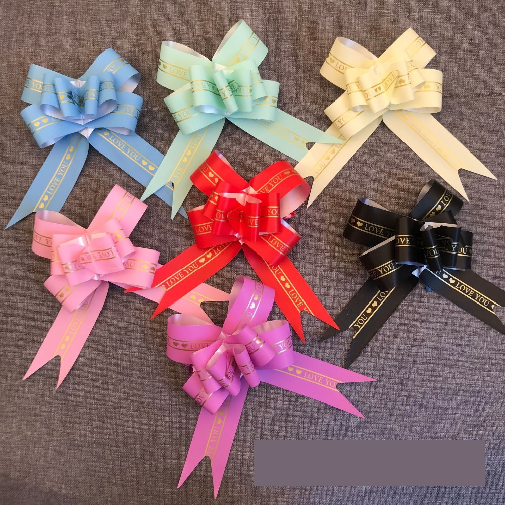 Christmas Gift Wrappers Pull Bows Flower Ribbons Wedding Birthday Party Supplies