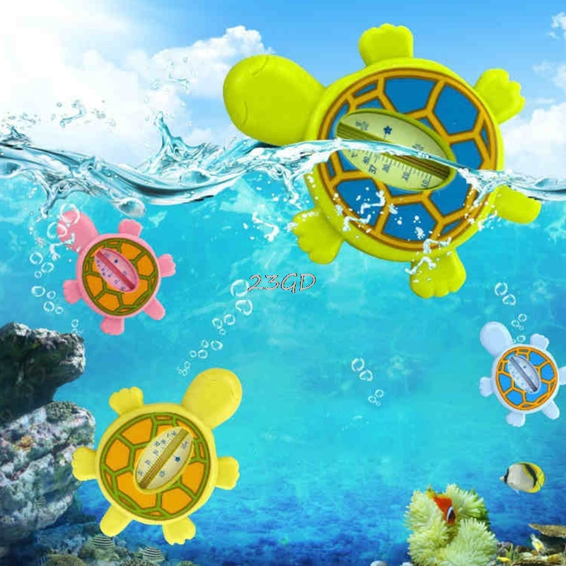 2017 Cute Baby Infant Bath Tub Water Temperature Tester Preety Gift Animal Cartoon Turtle Thermometer JUN21_50 ...