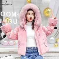 PinkyIsBlack 2019 com capuz mulheres jaqueta de inverno curto para baixo algodão acolchoado das mulheres revestimento do outono de veludo casaco feminino inverno parkas