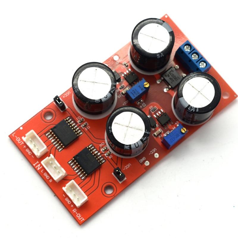 1pcs Unbalanced to Balanced Dual Channel Converter Board Low distortion DRV134PA