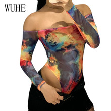 WUHE Sexy Hollow Out Bodysuits Women Off Shoulder Long Sleeve Slim Rompers Femme Jumpsuits Basic Playsuits Womens Tops Macacao
