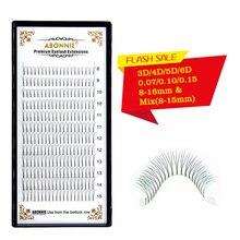 ABONNIE 12rows Premade  Volume Fan 3d4d5d6d Lash Russian Faux Mink Eyelash Extensions Pre made Extension