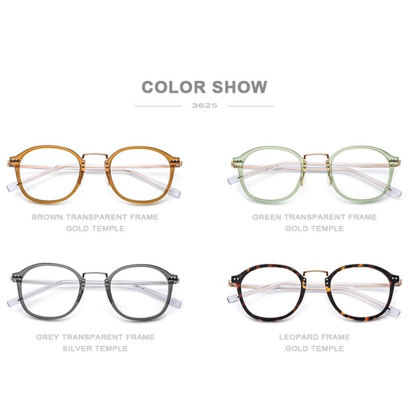 Acétate optique lunettes cadre femmes carré mémoire Prescription lunettes 2019 hommes clair Transparent myopie lunettes lunettes - 5