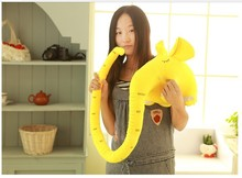 lovely plush elephant long nose elephant about 150cm birthday gift colour yellow