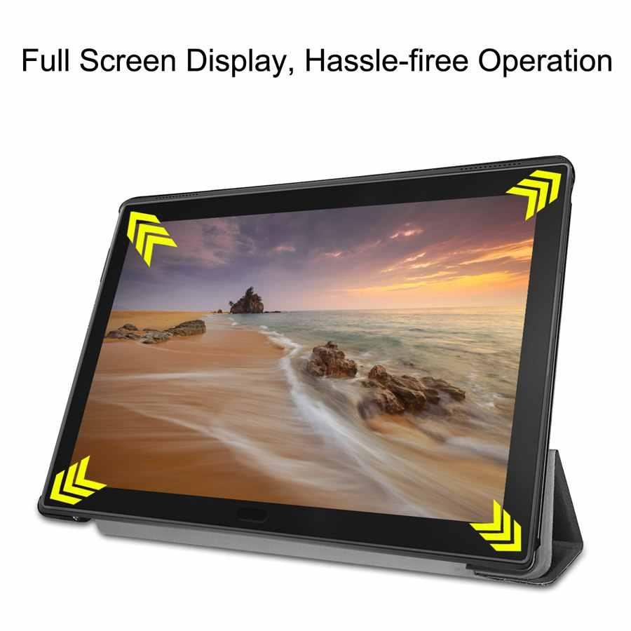 İnce manyetik PU deri kılıf için lenovo tab 4 8 artı TB-8704x TB-8704F Tablet kapak için lenovo Tab 4 8 artı kılıf + film + kalem
