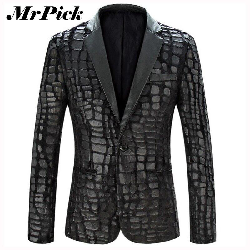Compra Hombres chaqueta de cuero chaqueta online al por