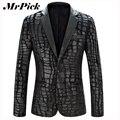 Hombres chaqueta de la chaqueta 2015 nueva marca Casual de cuero de imitación Spliced traje de terciopelo moda piezas de diseño chaqueta Z1751-Euro