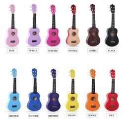 21 Polegada ukulele hawaii corda de madeira náilon guitarra tamanho portátil ukelele instrumento música para iniciantes crianças presente uk001