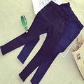 2015 New Fashion Womens Winter Thickening Fleece Warm Leggings Slanting Pocket Jeans Leggings Elastic Denim Pencil Pants Women
