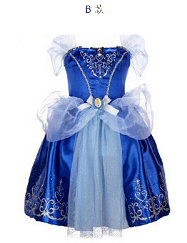 Girls Cinderella Dresses Children Snow White Princess Rapunzel Aurora Kids Party Halloween Costume Clothes k20B