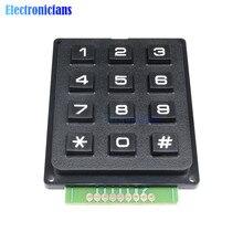 12 chave interruptor de membrana teclado 4x3 matriz matriz módulo teclado interruptor de membrana teclado para arduino
