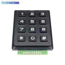 Teclado con interruptor de membrana de 12 teclas, matriz de matriz 4x3, módulo de teclado, interruptor de membrana, teclado para Arduino