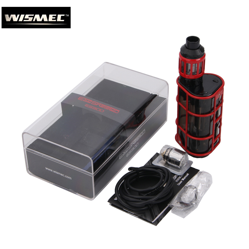 Original Wismec EXO SKELETON ES300 2.8ML KAGE atomizer with 300W ES300 Box MOD Kit fit 18650 battery