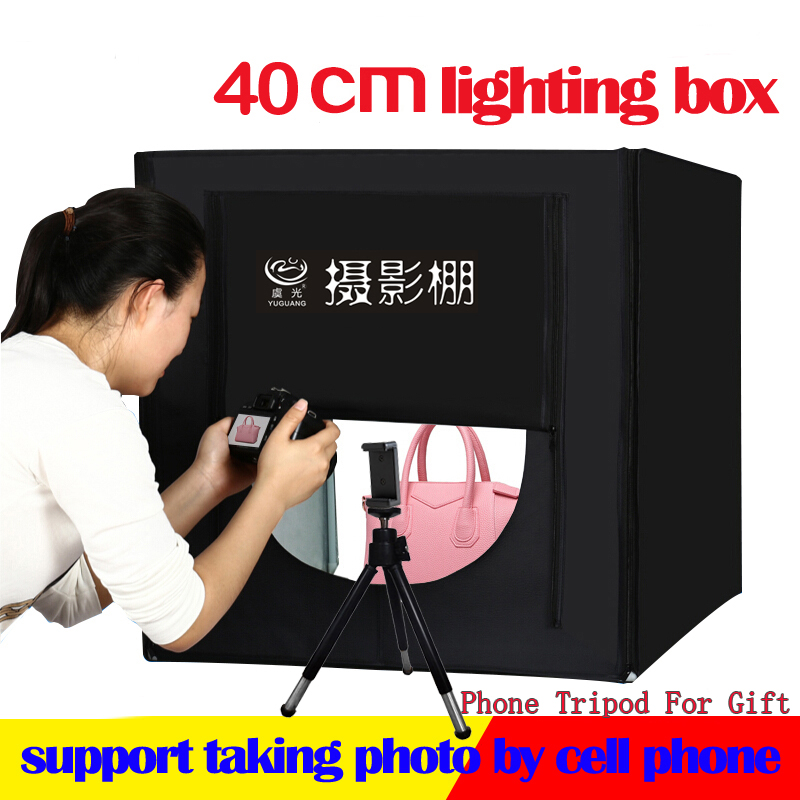 Fotostudio 40 * 40cm Folding Lightbox LED-Lichtbox Zelt Softbox + - Kamera und Foto
