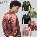 Autumn Winter women fashion short  ladies baseball uniform Satin jacket thick casual female flight outerwear coat  JK-85-79