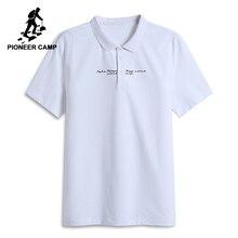 f539631689 Pioneer camp nuevo verano polo para hombres marca ropa casual impreso camisa  de polo hombres de manga corta polos Hombre ADP8011.