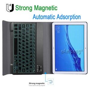 Image 3 - מקלדת עם תאורה אחורית עבור Huawei MediaPad T5 10 10.1 מקלדת מקרה AGS2 W09 AGS2 L09 AGS2 L03 Bluetooth מקלדת עור כיסוי אופן בסיסי