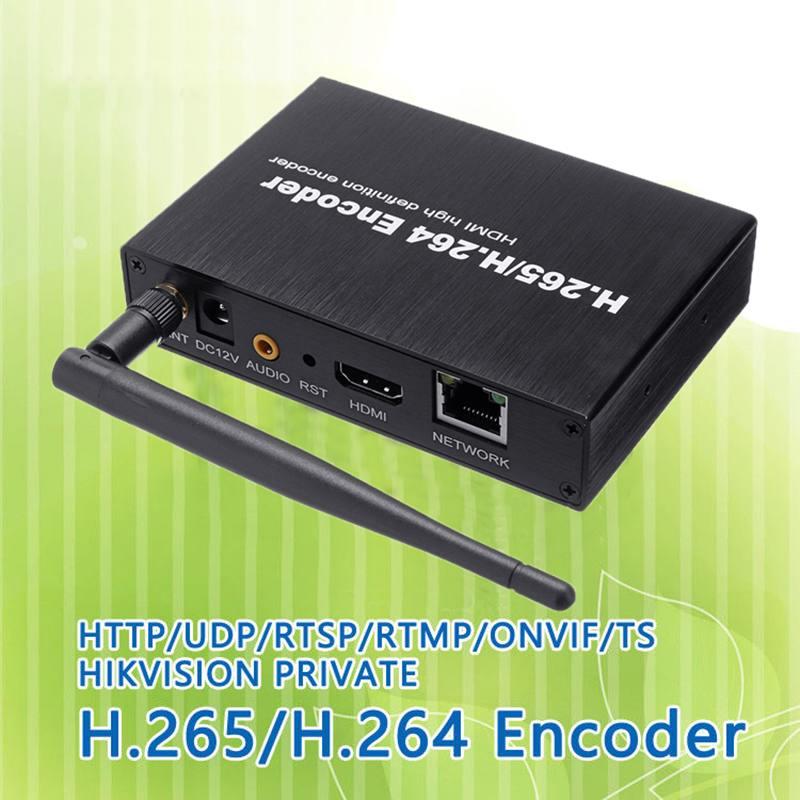 Tüketici Elektroniği'ten Radyo ve TV Yayın Ekipmanları'de H.265 H.264 HDMI Video ses Wifi Encoder IPTVs RTSP RTMP ONVIF HDMI kodlayıcı H265 canlı yayın yayını için title=