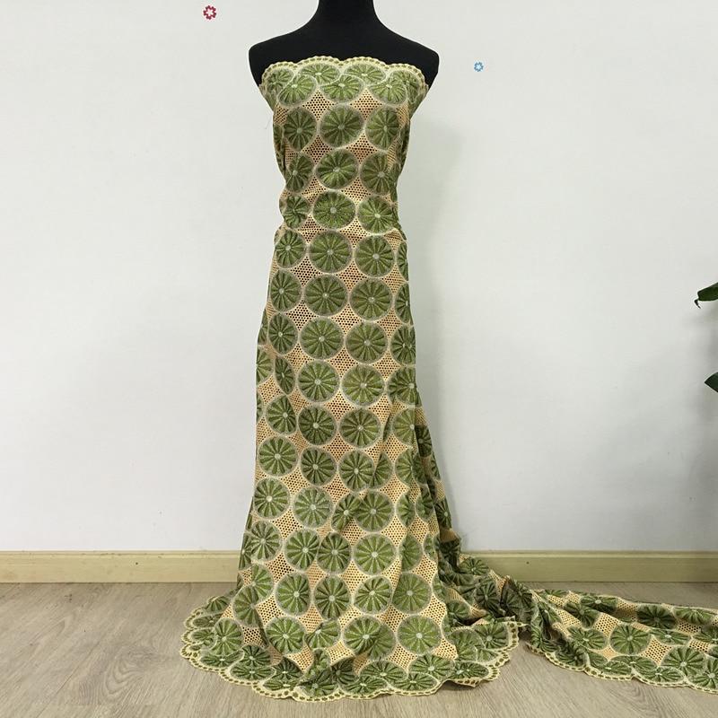 ⑧Alta calidad algodón suizo Encaje beige + ejército verde oliva ...