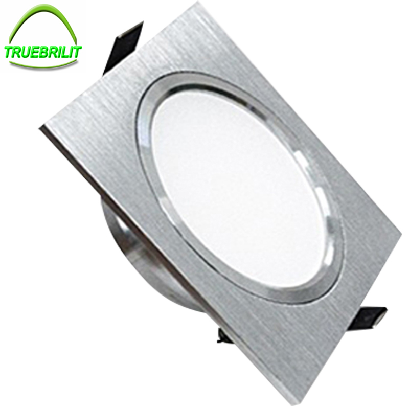Square Downlights LED SMD 5730 3W 5W 7W Ceiling Lamps 110V 220V Dimmable Spot Down Lights Driver Included(China)
