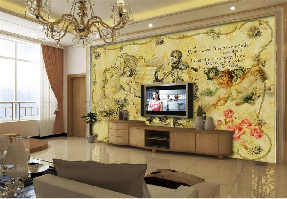 Home Improvement Welcoming Song Relief Jade Carving Marble Tv Sofa Background Wall Manufacturers Wholesale Wallpaper Mural Custom Photo Wall