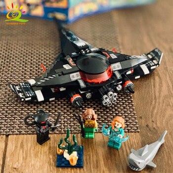 232 pcs Black Manta Strijd Aquaman Bouwstenen Compatibel Legoed Marveled Avengers Super Hero Figuur Luchtschip Speelgoed Voor Kinderen