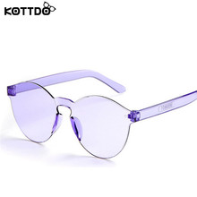 Kottdo 2017 Baby Children PC Cartoon Summer Sun Glasses Fashion Round Travel Outdoor Sunglasses Candy UV Protection Oculos 8801