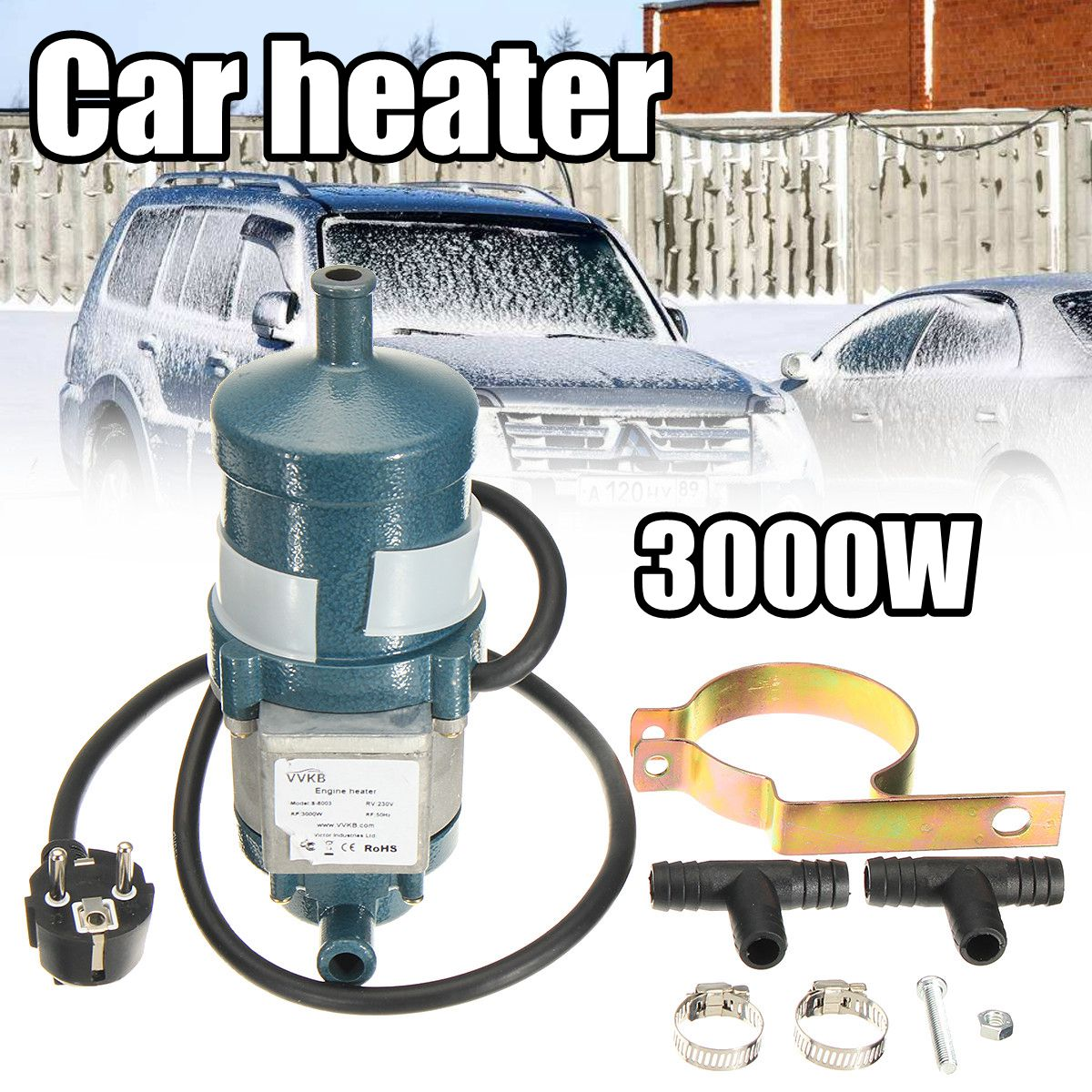 3000W 220V Circulating Water Heating Car Heater Engine Cycle Preheater Coolant Heating 220v 240v 1500w auto engine heater car preheater coolant heating air parking heater gasoline diesel motor heating preheating