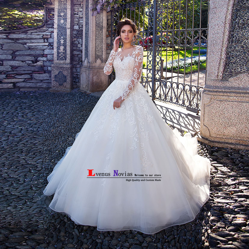 Vestido De Novia Wedding Gowns Sexy Bohemian Lace Long Sleeve Wedding Dresses 2019 Matrimonio Cheap Bride