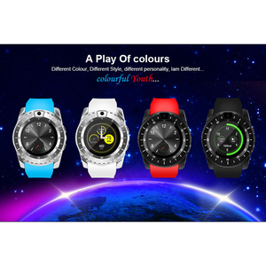 Image 2 - Inteligentny zegarek V8s mężczyźni Bluetooth Sport zegarki damskie panie Rel gio smartwatch z kamerą gniazdo karty sim telefon z systemem android PK DZ09 A1