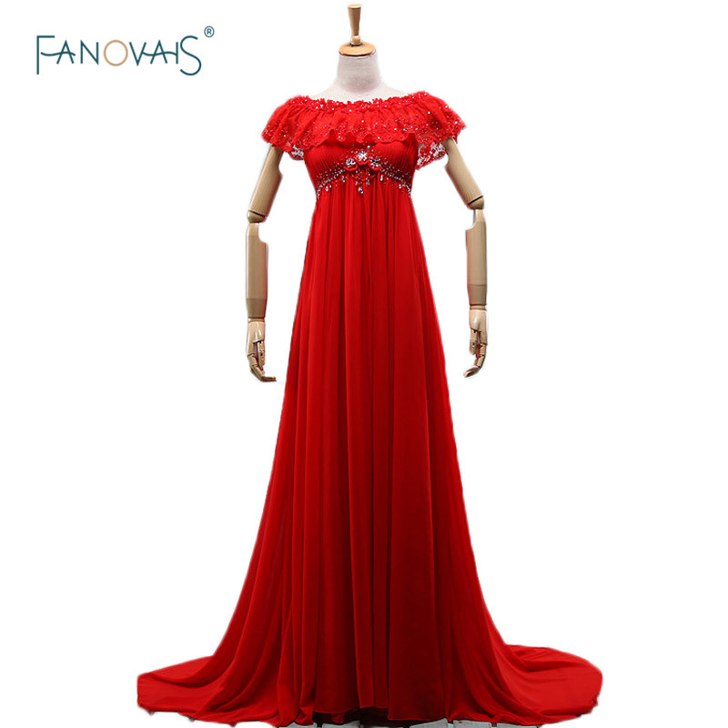 New Designer 2017 Vestidos De Noiva Gestante Red Evening Dresses ...