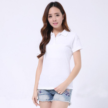 Jzhifiyer polo shirts cotton casual solid women slim polo shirt short-sleeve summer plain mujer shirts top polo femme pink red polo red