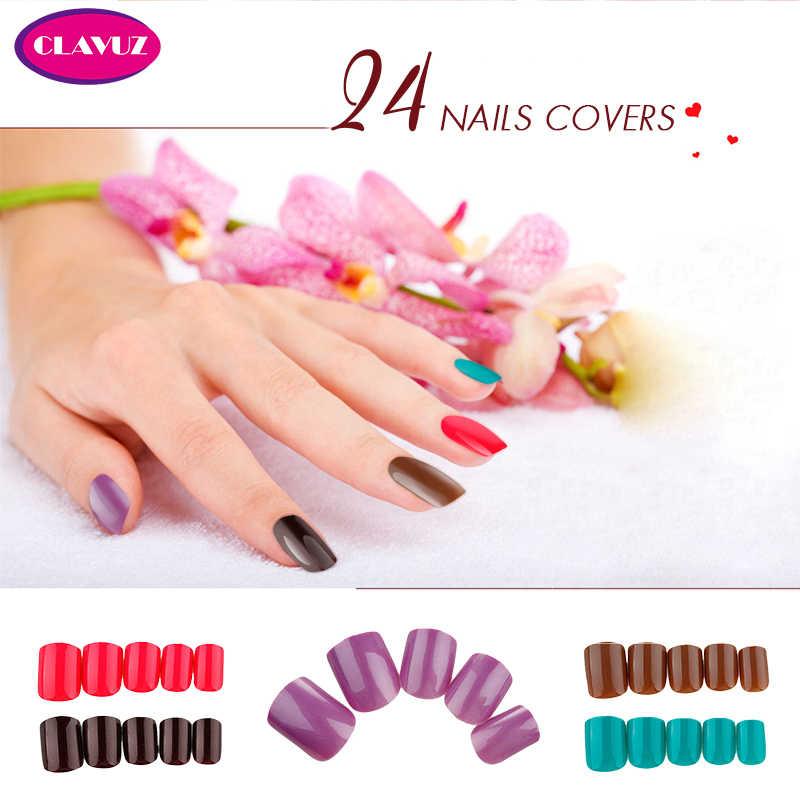 Накладные ногти CLAVUZ, Гель-лак для маникюра, Короткие искусственные ногти для дизайна ногтей