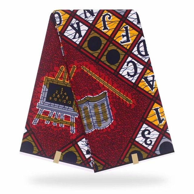 African Hollandais Real Dutch Wax Print Fabric 100% Cotton