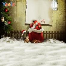 Yeele Christmas Photocall Decor Toys Wood Lattice Photography Backdrops Personalized Photographic Backgrounds For Photo Studio