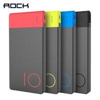 Colorful 10000mAh Power Bank ROCK Slim External Battery Portable Power Bank 10000 MAh Fast Charging Powerbank