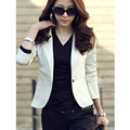 Fashion Ladies Feminine  Wear Work Office Business Long Sleeve Women Small Coats Jacket Suit Black White Free Shipping CL0602