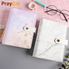 A6 Marble Notebook Cute Kawaii Dokibook Planner Notepad DIY Travel Journal 80 Pages Notebook Diary Note