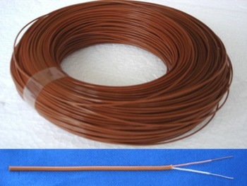 50M T Type Four Fluorine Temperature Measuring line Thermocouple Wire Thermal Compensation Wire 2*0.3mm for Temp Sensor
