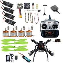 JMT 2.4G 8CH 310 RC Aviões Unassemble DIY Quadcopter Zangão Atualizável FPV w/Radiolink Mini PIX M8N GPS Altitude Hold partes