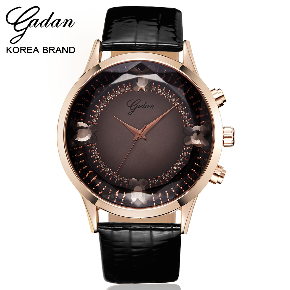 YADAN Large classic quartz watches colorful crystal gem glass luxury boutique noble woman genuine leathe ralloy watch best gift levy dal q88 7 android 4 1 tablet pc w 512mb ram 8gb rom dual camera white