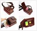 Dual-Use PU Leather Cover Shoulder Bag For Sony RX100 M1 M2 M3 M4 W830 W810 W800 W730 W630 Case For Canon Fuji Digital Camera