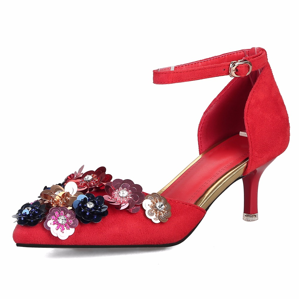 2017 Sexy Pumps Rhinestone Flower Sandals Women Sandals Woman Party Wedding Shoes Summer Shoes Fashion Bling Flower High Heels phyanic bling glitter high heels 2017 silver wedding shoes woman summer platform women sandals sexy casual pumps phy4901