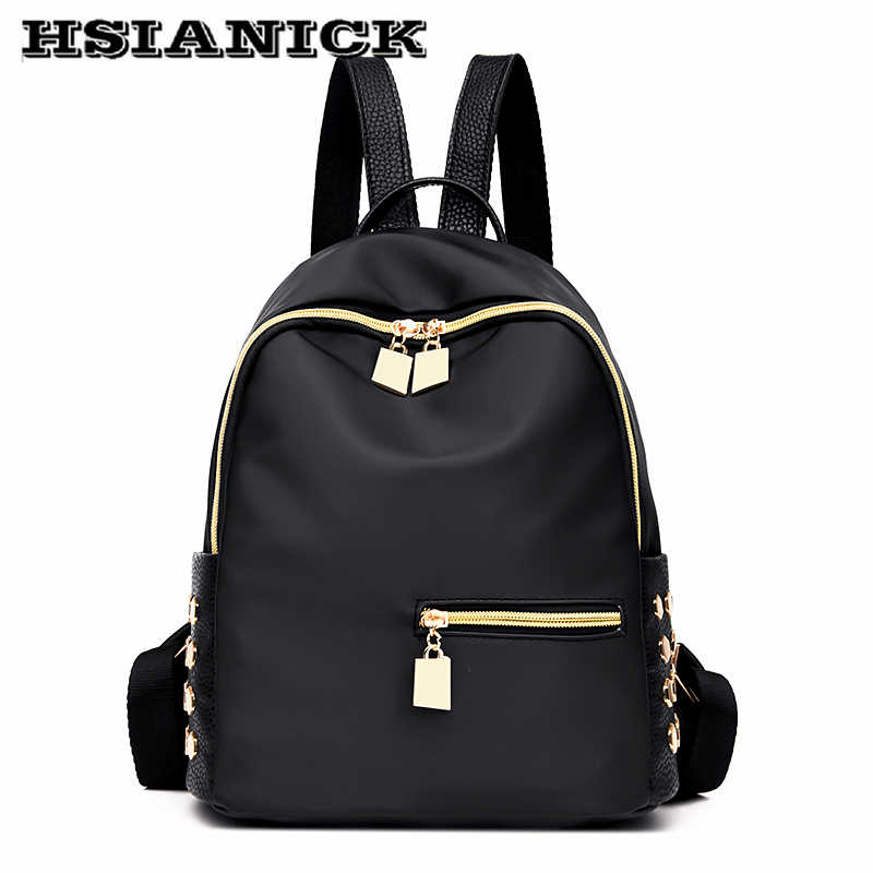 8aae4f1b9e 2019 woman new design fashion black backpack Oxford cloth casual shoulder  bag female Mummy book bag