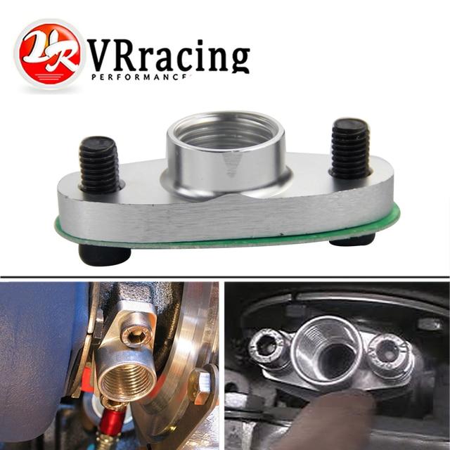 VR RACING - 1/2 NPT Female Aluminum Oil Drain Turbo Flange T3 T4 T04 GT40 GT55 ODF-02 silver VR-OGG32
